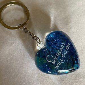 Celine heart of ocean key ring